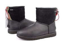 UGG For Men Classic Toggle Waterproof Leather Boots Black Color Mens Size 9 US