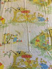 Vintage Sears Perma Prest Winnie the Pooh neutral crib/toddler bed sheet Disney
