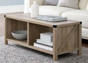 NEW COFFEE TABLE-RUSTIC OAK FOR ANY LIVING SPACE SOPHISTICATED RUSTIC OAK FINISH
