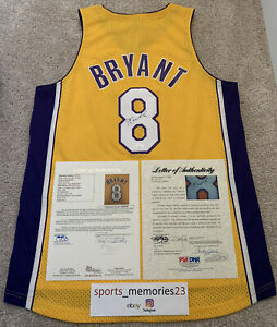 Kobe Bryant Signed Autographed Jersey Yellow/Home 8 –(PSA/DNA & JSA COA)- Rare!