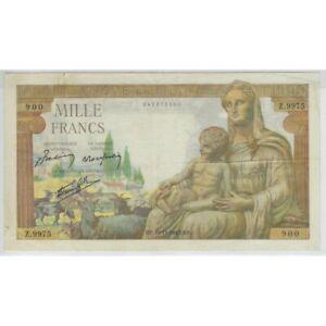 FRANCE 1000 FRANCS DEESSE DEMETER 18-11-1943 Z.9975 TTB