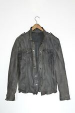 **AWESOME SAUCE** AllSaints Mens NOCTURNAL Leather Shirt Jacket SMALL XS