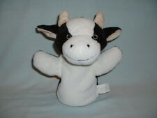 COW Cuddly Soft Hand Glove Puppet Plush Toy (FARM ANIMAL/CALF/WH SMITH/MILK)