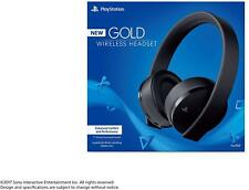 Sony PlayStation Gold Wireless Headset 7.1 Surround Sound New Version 2018