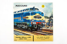 Lot 180811 MECCANO HORNBY DINKY toys catalogue 1962-1963, chemins de fer, Voitures