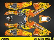 Kit Déco Quad / Atv Decal Kit Polaris Scrambler Trailblazer  - Motor Skull Yello