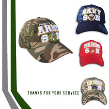Proud Army Navy Marines Air Force Vet Cap Hat Support Troops US MILITARY FAMILY