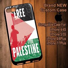 New Free Palestine Printed Case for iPhone 4/4S 5/5s 6/6s 6+/6s+ 7/7+ 8/8+ X SE