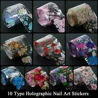 Nail Foil Decal Stickers Set For Nails Flowers Quick Art Film Floral Nail Design