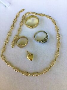 Bulk Lot 18ct Gold Jewellery Rings Chain Charm for Repair or Scrap 15.8grams