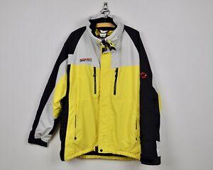 MAMMUT Snow Sports Men's XL DryTech Jacket Ski Snowboard Yellow Coat Skirt vtg