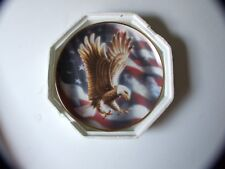 COLLECTIBLE FRANKLIN MINT PLATE AMERICAN EAGLE OVER AMERICAN FLAG 1991 !!!!!