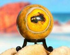 More details for bumblebee jasper polished sphere - amazing raw healing mineral 258g / 57mm