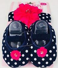 Love Spun Headband And Crib Shoe Set 0-12 Months 100% Cotton Girls Infant New