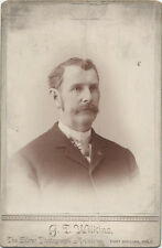 CABINET CARD, GENTLEMAN SITTING FOR A PORTRAIT, FORT COLLINS COLORADO.