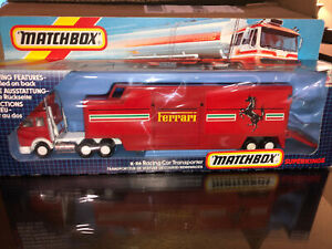 vintage Matchbox Superkings Ferrari K-116 Racing Car Transporter New Sealed