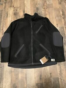 Mens The North Face Jacket Cragmont Full Zip Thick Sherpa Fleece Coat Black XL