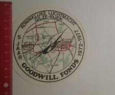 Aufkleber/Sticker: Koninklijke Luchtmacht Gilze Rijen 5 Jaar Goodwill (03011787)