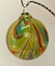 The Glass Forge Hand Blown Glass Gouldian Finch 3 inch diameter Ornament