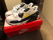 Nike Air Max 90 Essential AM90 Blue Yellow White Michigan AJ1285 101 Size 11