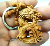 45*31MM carved Dragon Wooden Crafts, Key Chain, Key Ring  Lover Gift GG1