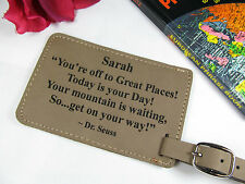Custom Leather ID Luggage Tags Personalized Suitcase Baggage Tags Travel Gift
