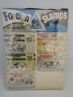 "Vintage Foreign Stamps Store Display Printed in England 12""X 16"""