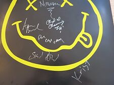 NIRVANA SIGNED POSTER BY 3 MEMBERS COA + EXACT PROOF! KRIST NOVOSELIC