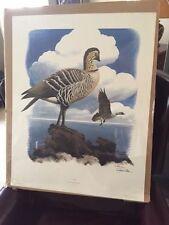 Richard Sloan original signed lithograph print, Nene Goose, 1976