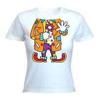 CLOWN FANCY DRESS LADIES T-SHIRT Hen Party Do Night Costume Outfit