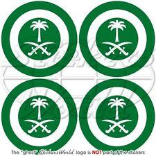 "SAUDI ARABIA AirForce Aircraft Roundel 2"" Stickers x4"