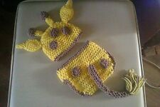 crochet baby giraffe hat and nappy cover 0-3 months unisex boy girl photo props