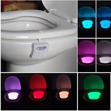 8 colors del salle de bain wc veilleuse Human capteur mouvements siège lampe