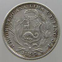 PERU DINERO 1897 #T10 159