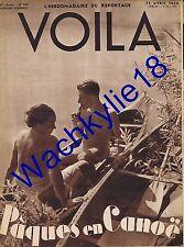 Voila n°369 du 15/04/1938 Canoë Observatoire de Paris Parachutisme Musiciennes