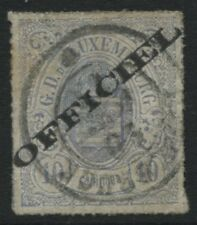 Luxembourg 1875 10c overprinted OFFICIAL with 4 large margins CDS used