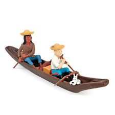 TINTIN MOULINSART HERGE 46956 Pirogue - Collection Images Mythiques Resine