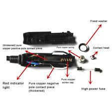 New 12V Male Car Cigarette Lighter Socket Plug Connector With Fuse Red LED