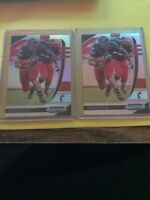 Lot of 2x 2020 Prizm Draft Picks Football TRAVIS KELCE Silver Prizm & base