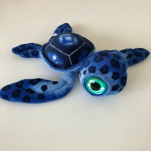 TURTLE Cute Small Plush Toy with Big Glass Eyes ~ 7cm tall 28cm long VGC