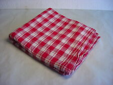 "Picnic Tablecloth - Red & White Plaid - 56"" x 96"""