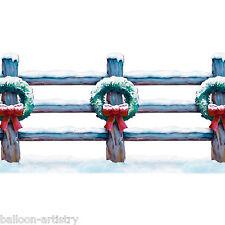 Noël Wonderland Scène Setter bordure clôture de vacances