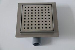 150mm Shower Waste Wet room Drain Grates or Tile-able horizontal Outlet Matt SS