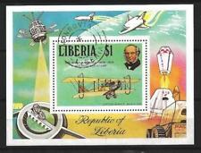 Avions Liberia (22) bloc oblitéré