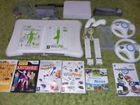 WII GREAT BUNDLE  + BALANCE  BOARD MARIO KART WII SPORTS/RESORT AND MUCH MORE