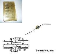 4 pcs Silicon carbide LED Diode Yellow KL101V USSR NOS