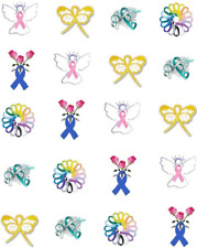 Cancer Support Waterslide  / Water Transfer Nail Decals/Nail Art
