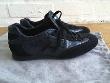 HOGAN OLYMPIA SUEDE PATENT SNEAKERS TRAINERS SHOES SZ 36 1/2 US 6.5 UK 3.5