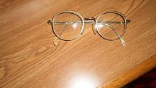 Vintage Granny Glasses Gold Round Eye Wire Glasses 1980's