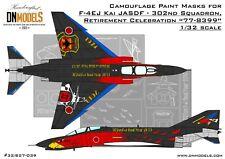 F-4EJ Kai 302nd Squadron Retirement Celebration Paint Mask Set 1/32 by DN Models